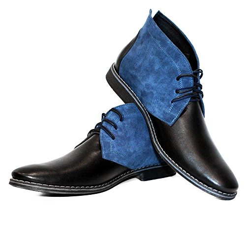 Modello Cassel - Handmade Italiano da Uomo in Pelle Colorato Chukka Boots - Vacchetta Pelle Morbido - Allacciare