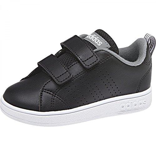 adidas Unisex-Kinder Vs Advantage Clean Sneakers schwarz (Negbás/Negbás/Gritre 000)