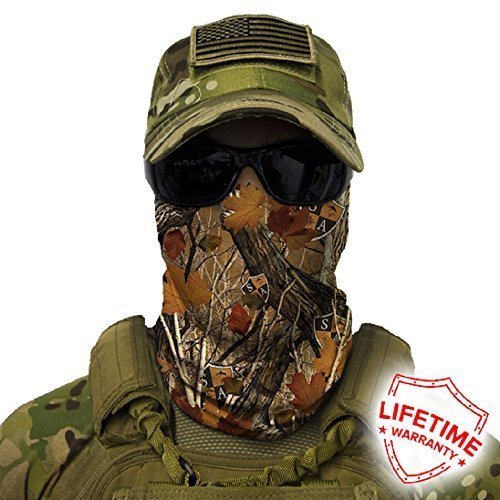 SA Company Face Shield Micro Fiber wind, dirt and bugs. Keep warm on cool days. Worn as a Balaclava, Neck Gaiter, Head band, Doo Rag for Hunting, Fishing , Cycling and Salt lovers. – Forest Camo