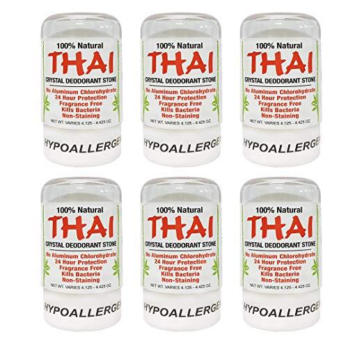 Thai Natural Crystal Deodorant Stone 4.25 oz (Pack of - Deodorant Miracle