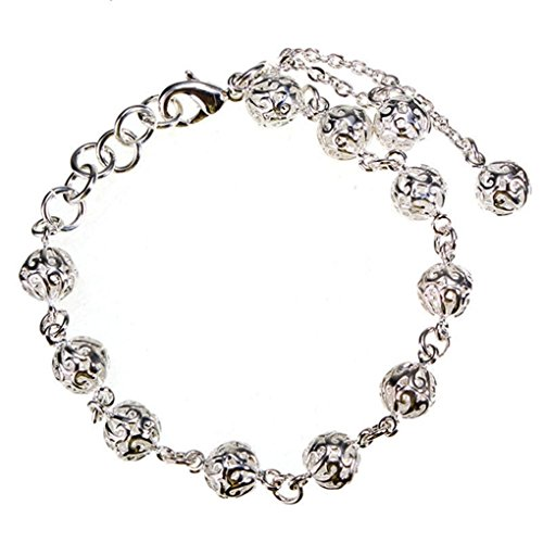 Bracelets Silver Color Hollow Balls Pendant Bracelet For Women Jewelry (Negative Space Watch compare prices)