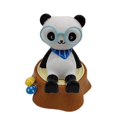 Energía Pila Madera Solar Panda Juguetes De Baile Columpio I76Ybfgyv