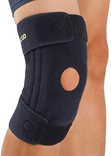 Bracoo Knee Brace with Stabilizers, Patellar Tendinitis Support for MCL, Arthritis Pain Relief, Sports Injury and Recovery- Men & Women, SportsMed (KB30)