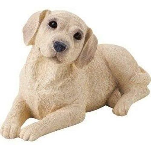 Sandicast Small Size Yellow Labrador Retriever Sculpture, (Yellow Labrador Dog Figurine)