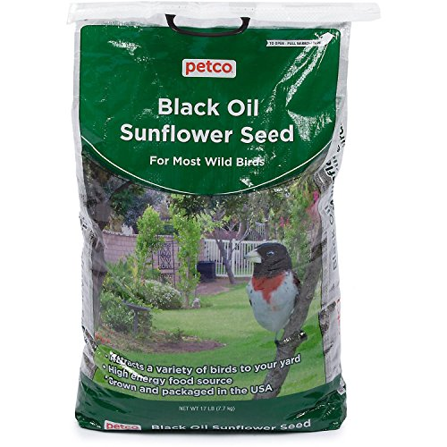 Petco Black Oil Sunflower Seed Wild Bird Food, 17 lb Bag, 17 LBS