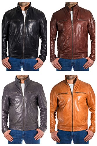 Chic Biker contract hombre para Jacket R sime Mill Classic Bronzer tro D 4qX7nR