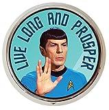 Original Star Trek Spock Leonard Nimoy Pill Box - Compact 1 or 2 Compartment Medicine Case