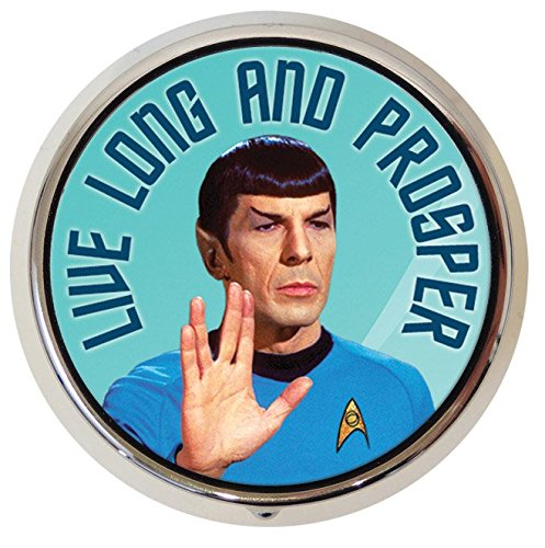 Original Star Trek Spock Leonard Nimoy Pill Box - Compact 1 or 2 Compartment Medicine - Compact Medicine