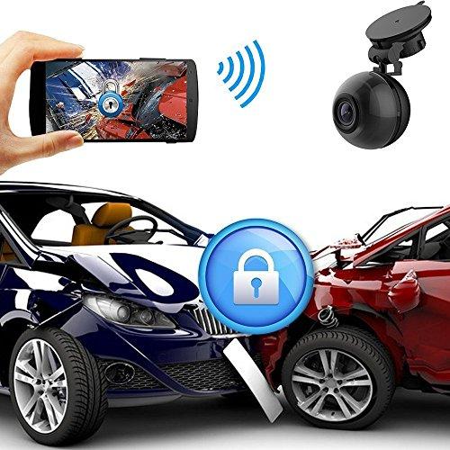 Car Video PEMENOL WiFi Dash Cam FHD 1080P Mini Dashboard Camera 140° Wide  Angle Car DVR with Super Night Vision, G-Sensor, Loop Recording, Motion