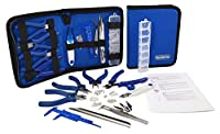 Beadstone 18pc Jewelry Making kit - includes Jewelry Making Guide. Ergonomic Molded Handles, Safety Snipper Cap, additional snipper blades, Extra F