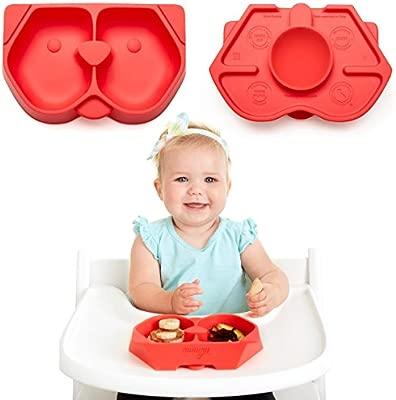 NUMMY Bowl - Cuenco de silicona pura con ventosa oculta para bebés ...