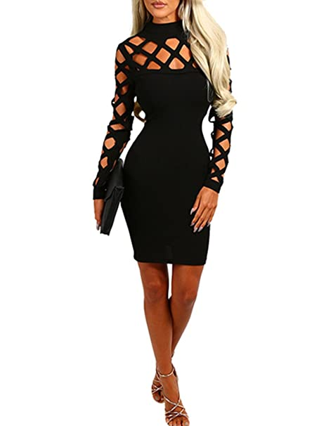 long sleeve checkered bodycon dress that ships 4 days in usa