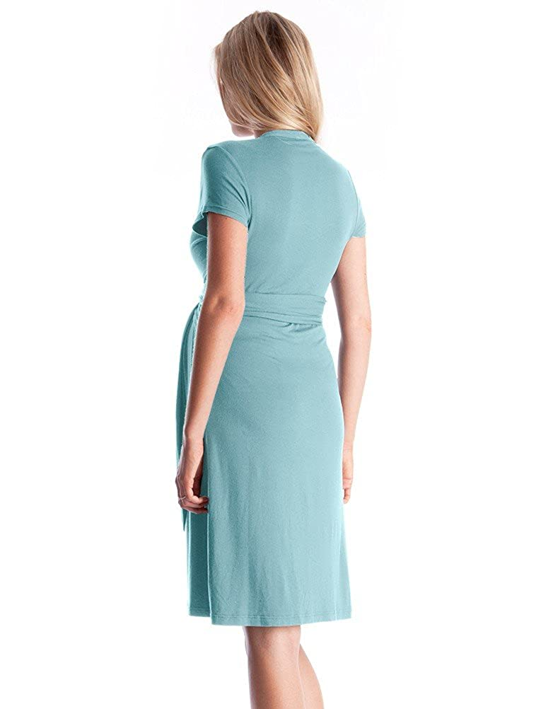 73c8561ce368a Seraphine Abbey Wrap Tie Maternity Dress - Seabreeze - 10 at Amazon Women's  Clothing store: