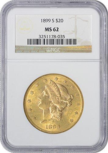 (1899 S Twenty Dollar Gold MS62 NGC)