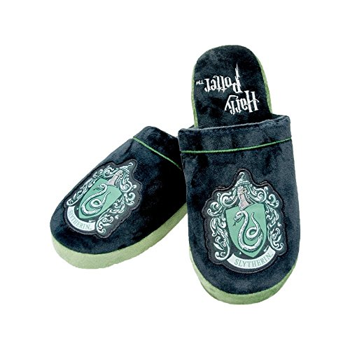 Slippers On 7 Harry 5 Uk Slip Potter Crest Slytherin qwIX8U