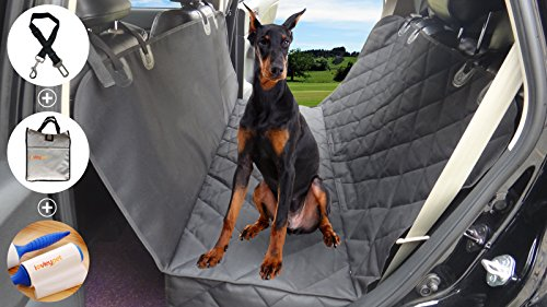 Akc Christmas Ornament (Premium Pet Dog Seat Cover For Cars Hammock With Side Flaps,Heavy Duty Durable,Waterproof + Non-Slip Dog Seat Covers For Cars & Trucks & SUV's -Black)