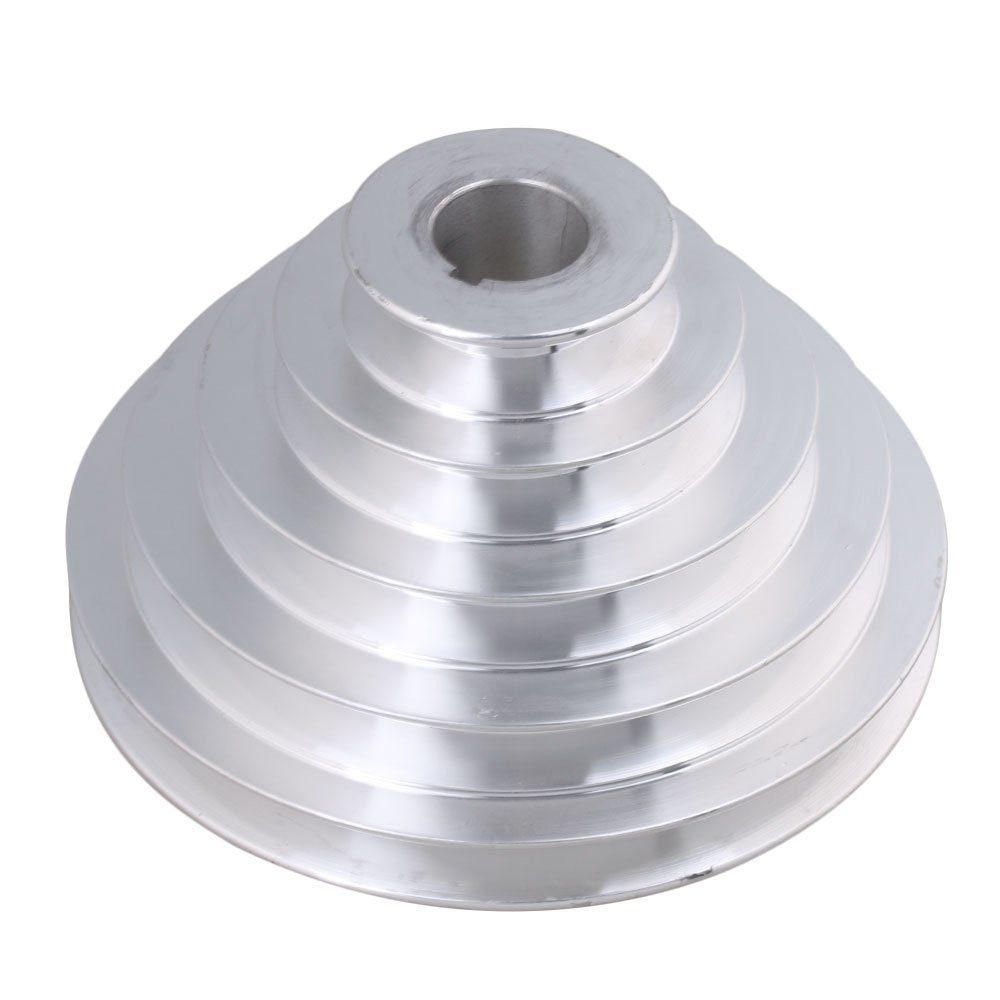 BQLZR 54mm to 150mm Outter Dia 25mm Bore Width 12.7mm Aluminum 5 Step Pagoda Pulley Belt for A Type V-Belt Timing Belt M4171229473