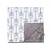 Towin Baby Arrow Minky Double Layer Receiving Blanket, Mint 30 x30  …