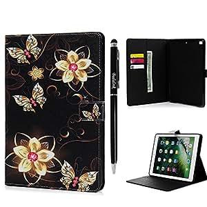 Funda para iPad 9.7, Gold Butterfly