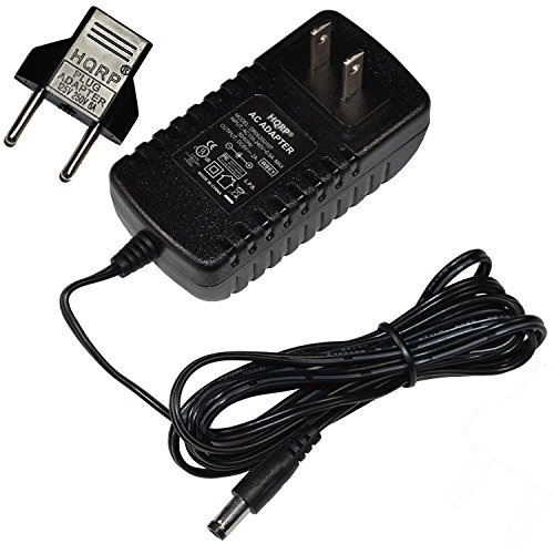 HQRP AC Adapter for PROFORM 500 ZLE Elliptical Cross Trainer, Space Saver 695 Elliptical Exerciser PFEVEL950070 Power Supply Cord [UL Listed] + Euro Plug Adapter ()