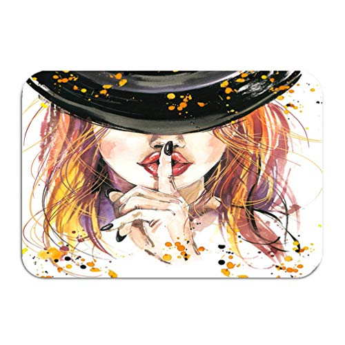 SiYi8ey Carpet Rug Door mat Girl Witches Halloween Party Poster Holiday Symbols Holiday Text Gorgeous 16 24 -
