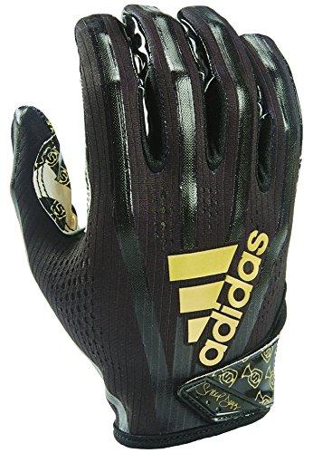adidas AF1006 Adizero 7.0 Snoop Money Bag Receiver's Gloves, Black, XX-Large