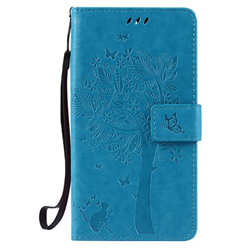 Wallet Flip Leather Case Cover For OnePlus 3T / OnePlus 3 (Blue) - 9
