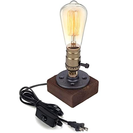 Edison Lamp Rustic Home Decor Farmhouse Decor Table Lamp Industrial