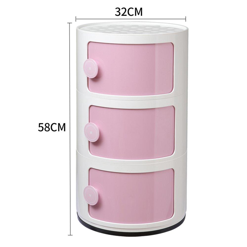 Q Nightstands Plastic Lockers Bedroom Nightstand Round The Corner Cabinet Multifunctional Storage ( color   A )