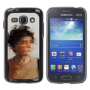 YOYOYO Smartphone Protección Defender Duro Negro Funda Imagen Diseño Carcasa Tapa Case Skin Cover Para Samsung Galaxy Ace 3 GT-S7270 GT-S7275 GT-S7272 - cara moviendo la cámara lenta
