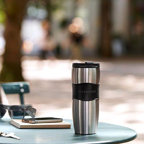 Starbucks Travel Coffee Mugs - Starbucks Stainless Steel Lucy Classic Rubber Grip Travel Tumbler Thermos Mug - 12 fl oz