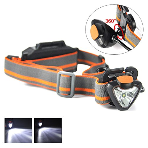 1 Set 500 Lumen XPE LED Headlamp 4 Modes Flashlights Mini 3W 360 Degree Rotate Flashlight Headlight Master Fashionable Ultra Xtreme Tactical Bright Light Waterproof Outdoor Running Camping - Master Vision Headlamp