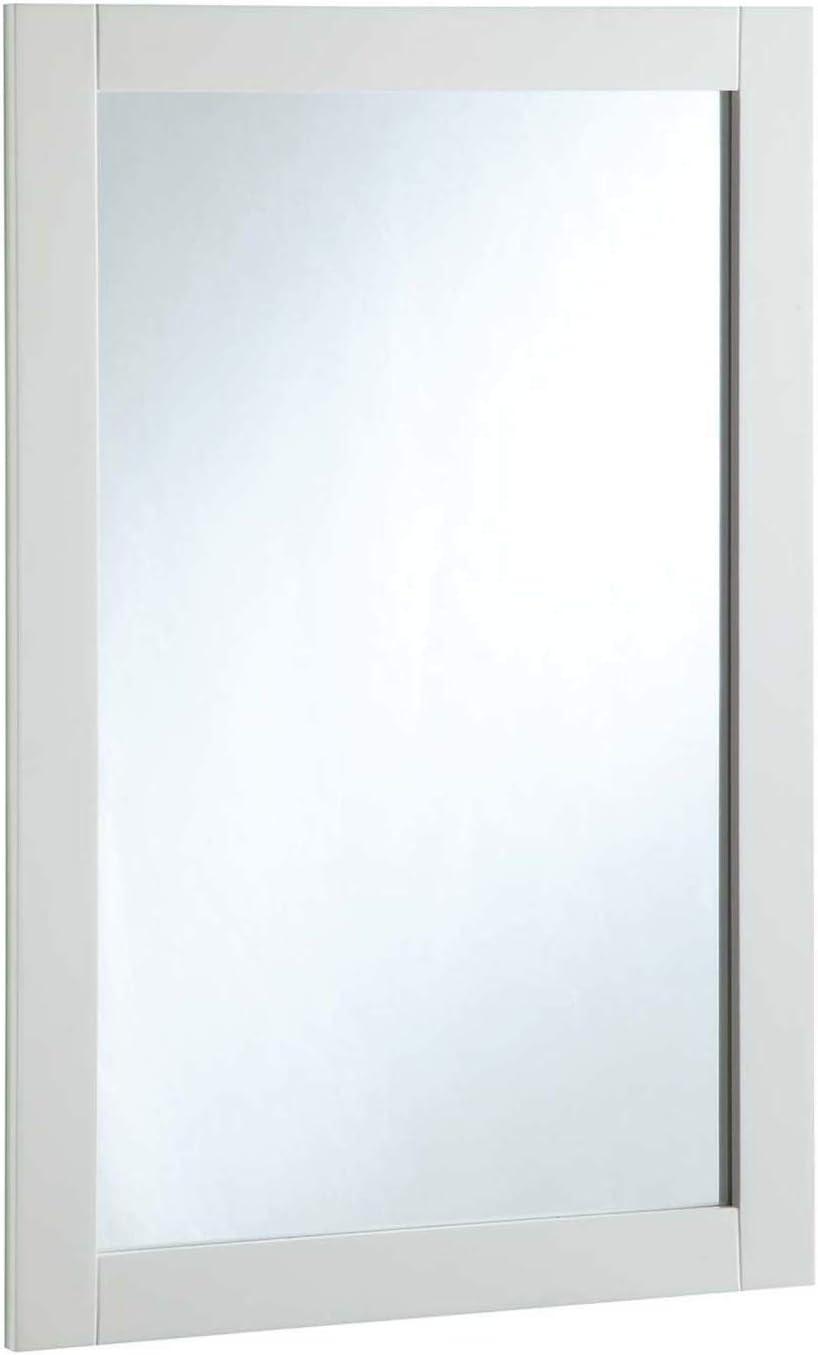 Design House Shorewood 547208 20 30-inch Vanity Mirror, Semi-Gloss White