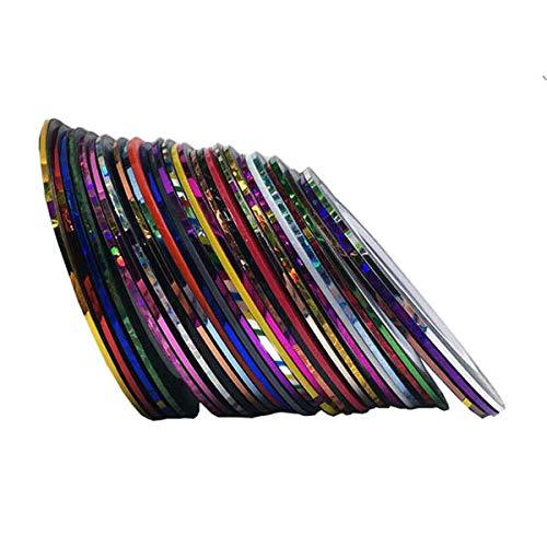 30 Rolls Striping Tape Line Nail Art Decoration Sticker by East Majik