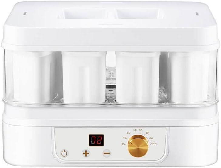 KOSGK Food Dehydrator Tiered White Smart Timing 72H Yogurt Machine Adjustable Thermostat 35℃~70℃ Household Electric Food Dehydrator Machine Fruit Dryer Machine 19.3.23
