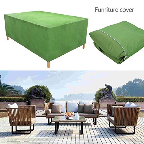 Cosway Furniture Set Covers, 106.3 x 70.9 x 35.0inch Patio Furniture Cover Water Resistant Durable Outdoor Table and Chair Cover Rectangle (Green) by Cosway (Image #7)