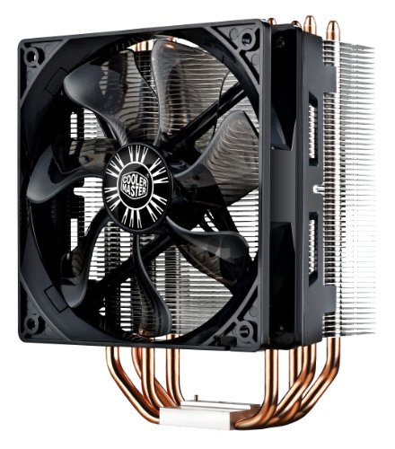 Cooler Master Hyper 212 LED CPU Cooler with PWM Fan, Four Direct Contact Heat Pipes