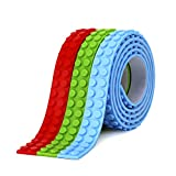 Toys : SuSenGo 3 Rolls Red Green Blue RGB 9.8Feet/3meter Loops Building Block Tape Roll Self-Adhesive