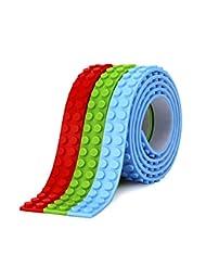 SuSenGo RGB 9.8\'/3 m Loops Building Block Tape Roll Self-Adh...