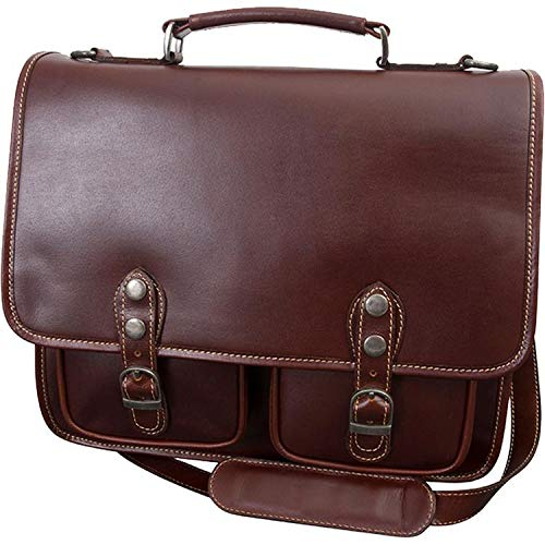 - Canyon Outback Leather Goods Inc. Sabino 15-inch Leather Computer Briefcase-Brown Laptop, One Size