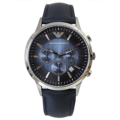 Emporio Armani Armani Chrono Quartz Men's Wrist Watch AR 2473 Navy Belt Japan