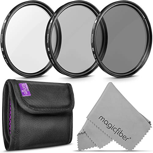 67MM Altura Photo Professional Photography Filter Kit (UV, CPL Polarizer, Neutral Density ND4) for Camera Lens with 67MM Filter Thread + Filter Pouch from Altura Photo