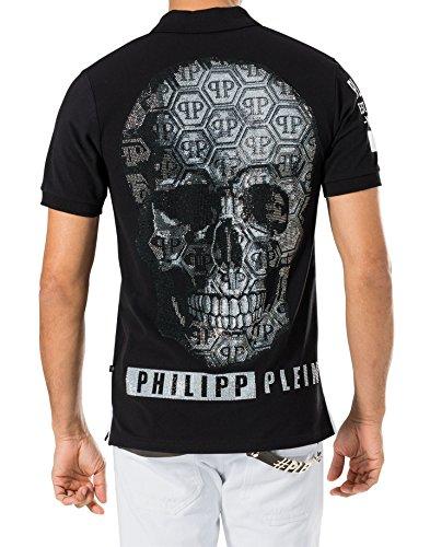 """PHILIPP PLEIN """"DEATH BITE"""" Herren Poloshirt - Black"""