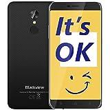 Blackview A10 Cellulari Offerte, 5.0 pollici, Quad-Core 2GB RAM 16GB ROM, Batteria2800mAh Smartphone Dual SIM, Fotocamere 2MP + 5MP, Android 7.0 Smartphone in Offerta, Fingerprint/Wifi - Bianca