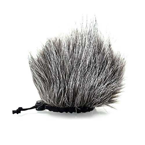 CamDesign Furry Microphone Windscreen Wind Muff for Portable Digital audio Recorders up to 10cm X 14cm(W x D) fits Zoom H4n, H5, H6, Tascam DR-40, DR-05, DR-07, Roland R-05, Olympus LS-100 & carry bag (Wind Noise)