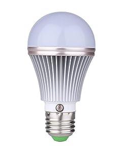 E27 5W LED Dusk to Dawn Sensor Light Bulbs [Aluminum] Built-in Photosensor Detection Auto Switch Light 3000K Warm White Indoor/Outdoor Lighting Lamp for Porch Hallway Patio Garage