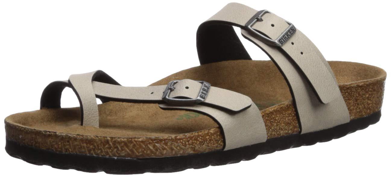 Birkenstock Unisex Adults Mayari Vegan Birk-Flor Pull Up Cut Out Sandals - Pull Up Stone Vegan - USW9/M7/EU40