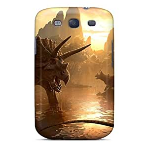Hernandezz Perfect Tpu Case For Galaxy S3/ Anti-scratch Protector Case (triceratops)