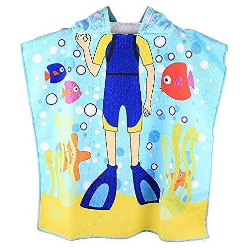 24cee9b037 Kids Hooded Beach Bath Towel for Age 2-7 Years - Swim Pool Coverup ...
