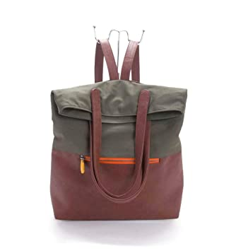 Amazon.com  2-in-1 convertible backpack purse by CANOPY VERDE f92754d12ec5d
